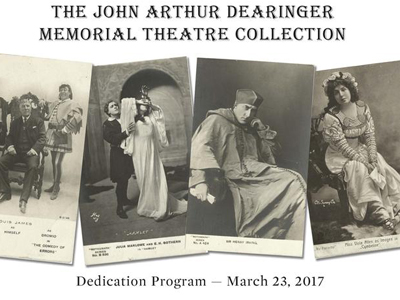 Dearinger Memorial Theatre Collection Opening