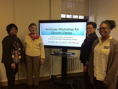 Workshop for clerks and secretaries of African American churches