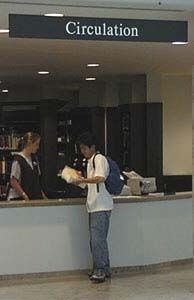 Circulation Desk, Young Library