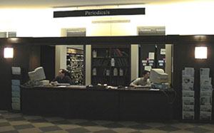 Periodicals Desk, 2nd floor, Young Library