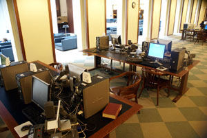 Microfilm Reader/Printers, 2nd floor, Young Library