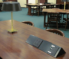 Study Tables, 3rd floor, Young Library