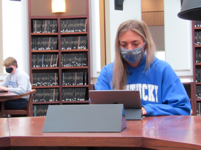 Student Studying in W.T. Young Library