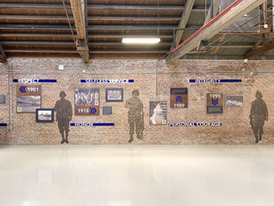 Photograph of Exhibit in Buell Armory