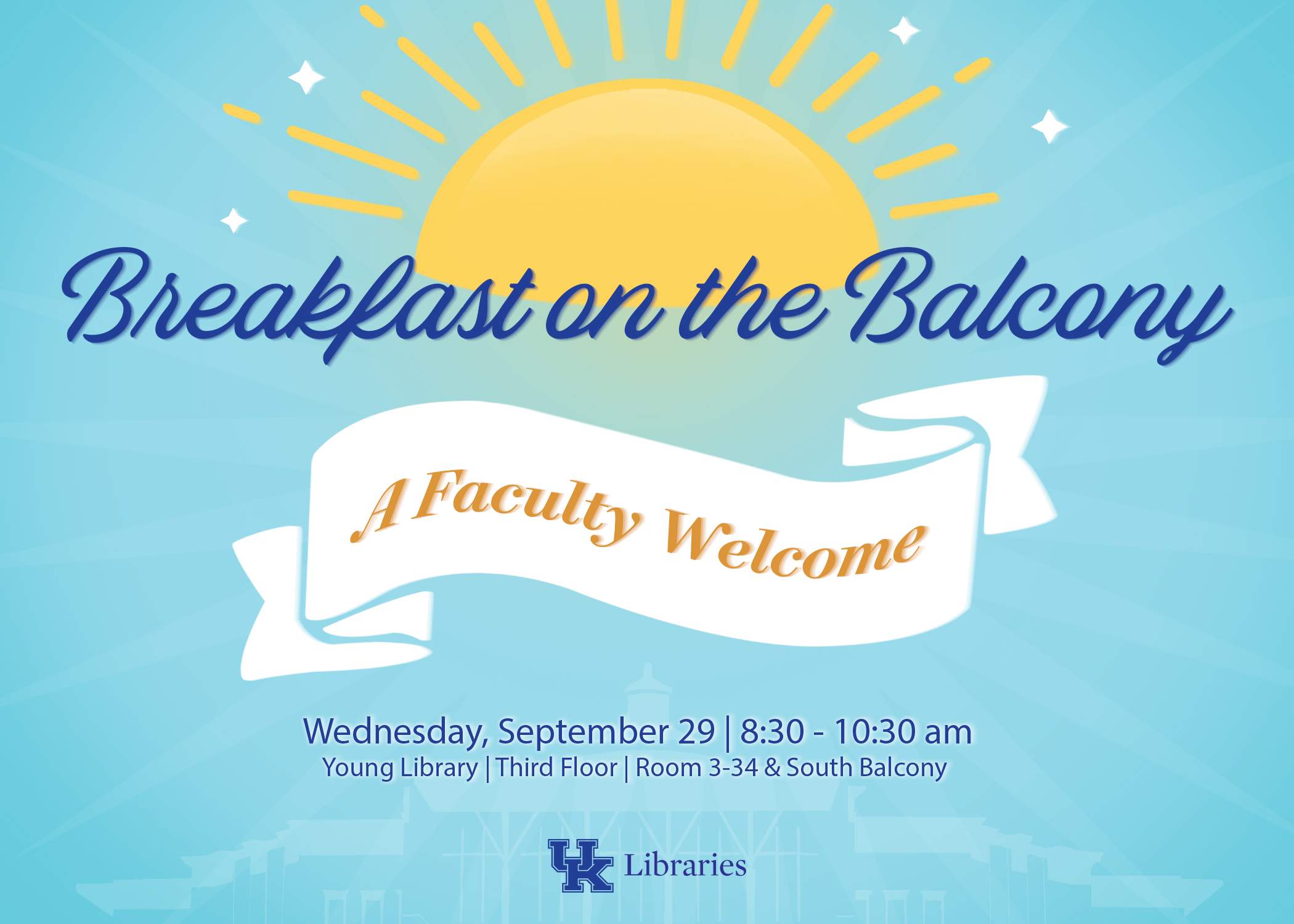 Faculty Breakfast Graphic